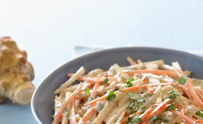 Салат из топинамбуры