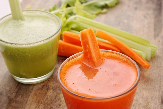 Лечение болей овощными соками