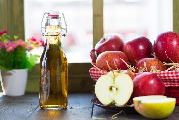 Лечение отита яблочным уксусом