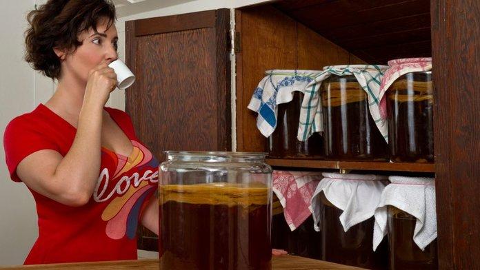 Чайный гриб при похудении