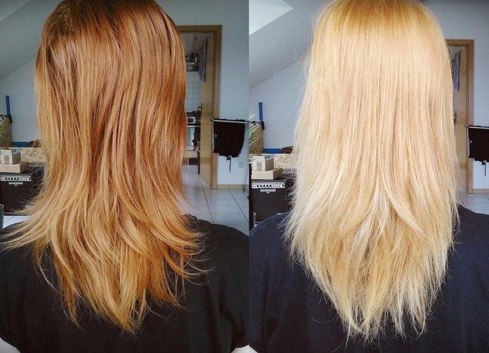 Осветление волос перекисью до и после