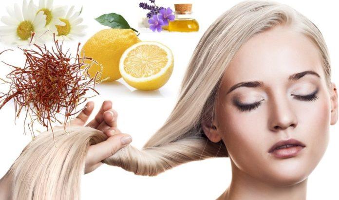 Как осветляют волосы без химии?
