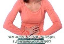 Чем в домашних условиях лечить гастрит желудка?