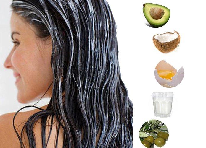 Продукты для приготовления масок для роста волос