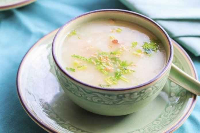 Клейкий рисовый суп