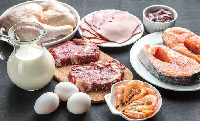 Белковые продукты во время сушки