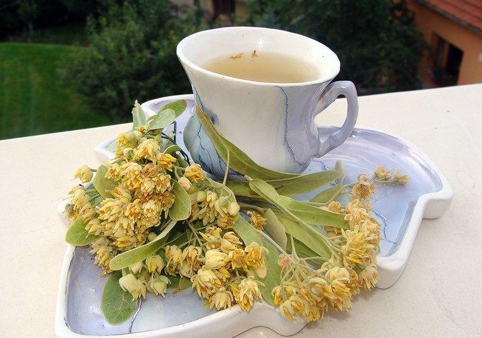 Чай из липы при ангине