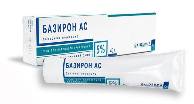 Базирон АС против прыщей