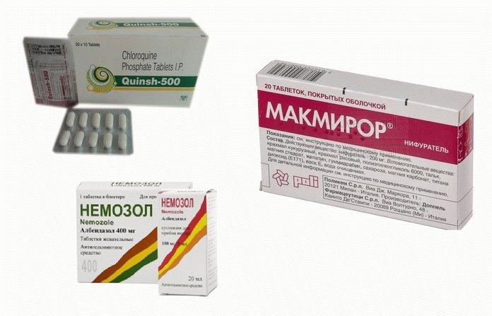 Лекарственные средства от лямблиоза