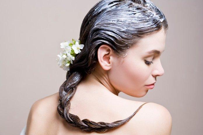 Натуральная маска для волос на основе каменного масла