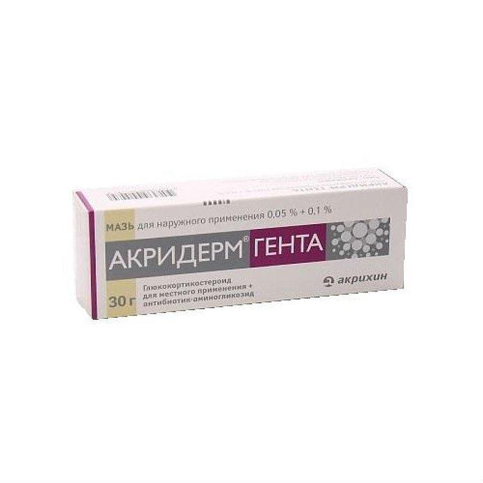 Акридерм Гента против псориаза