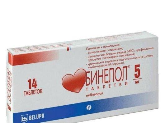 Бинелол инструкция по применению таблеток