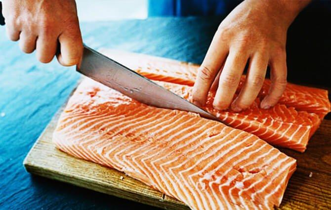 Разделка зараженной рыбы