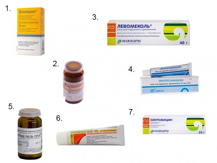 Самые популярные аптечные мази