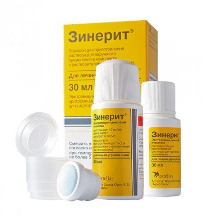Препарат Зинерит в аптечной упаковке
