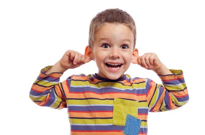 Здоровые уши ребенка