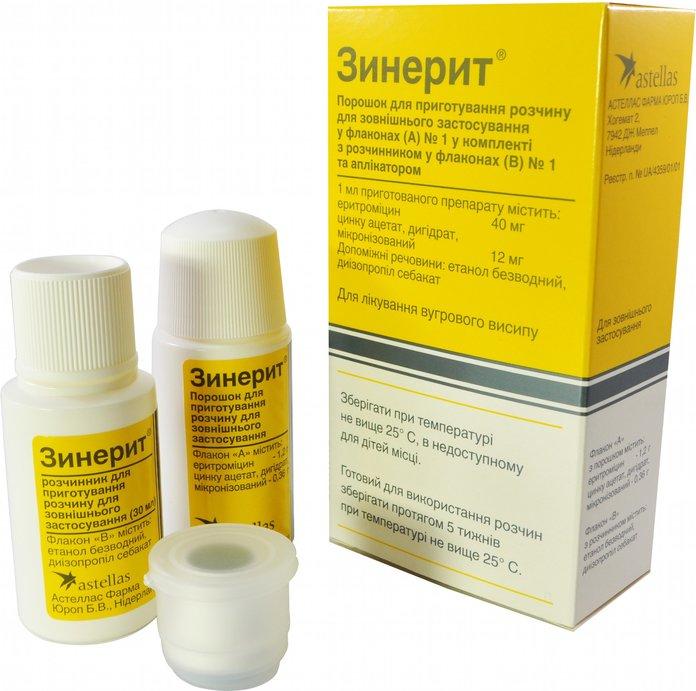 Упаковка препарата Зинерит