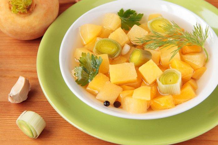 Диетический суп с репой при гастрите