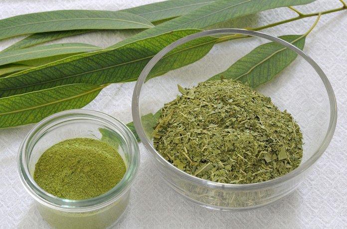 Измельченные сушеные листья эвкалипта