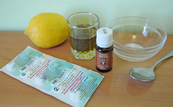 Лечение прыщей лимоном и аспирином