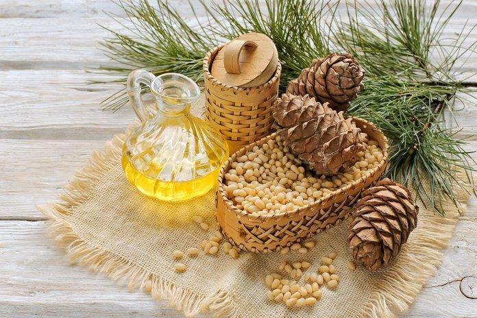 Кедровое масло и шишки - ингредиенты целебных средств