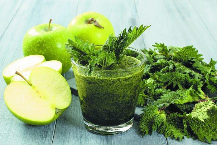 Укропный сок и яблоки