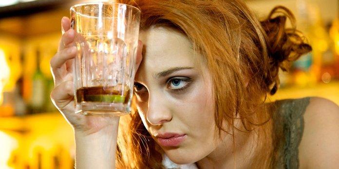 Выпившая девушка