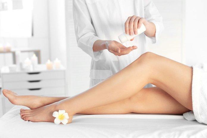 Нанесение крема после косметических процедур