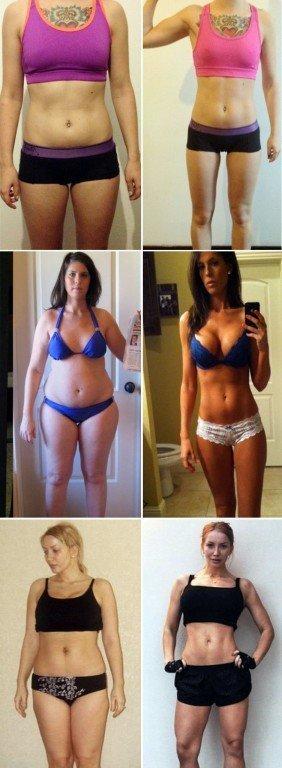 фото девушек до и после сушки тела